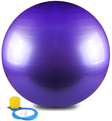 Anti Burst and Slip Resistant Yoga Ball – Exercise Ball, Fitness Ball, Total Body Balance Ball By Utopia Home (75 CM)