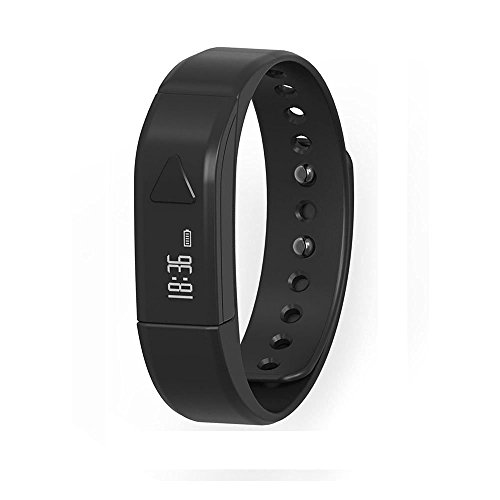 Fitness Tracker Pedometer Bracelet,Vcall I5 Waterproof Bluetooth Sports Activity Tracker Smart Band Wristband with OLED Display Calories Counter Health Sleep Monitor for iPhone Android Phones(Black)