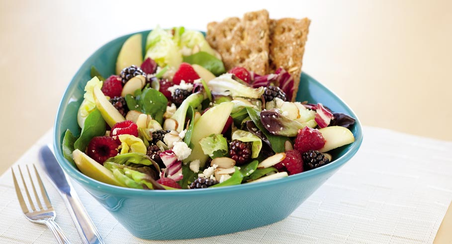Chalene Johnson's Wilt-Free Salad with Feta, Raspberries and Apples