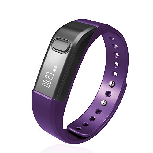 Fitness Tracker Pedometer Bracelet SHONCO I5 Waterproof Bluetooth Activity Tracker Smart Sports Band Wristband with Health Sleep Monitor Calories Counter OLED Display for iPhone Android Phones