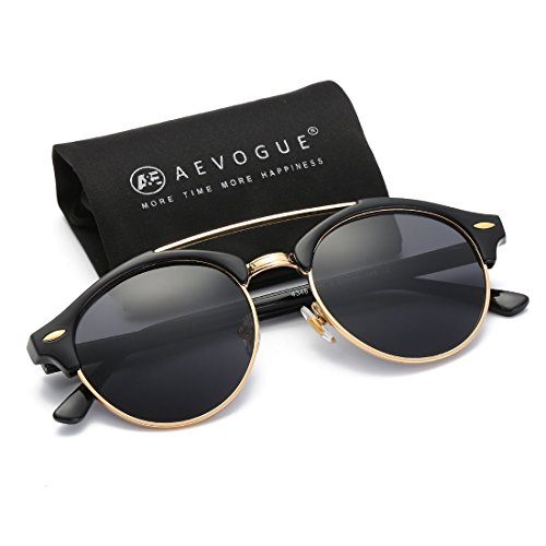 AEVOGUE-Polarized-Sunglasses-Mens-Semi-Rimless-Retro-Unisex-Glasses-AE0504-0