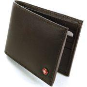 Alpine-Swiss-Mens-Leather-Flipout-ID-Wallet-Bifold-Trifold-Hybrid-0-5