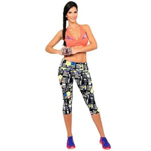 AutumnFall-Performance-Activewear-Printed-Yoga-Capri-Work-out-Leggings-0