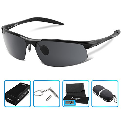 COSVER-Mens-Sports-Style-Polarized-Sunglasses-for-Driving-Cycling-Running-Fishing-Golf-Unbreakable-Metal-Frame-Al-Mg-Glasses-0