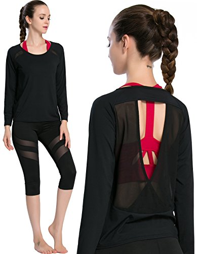 Campeak-Womens-Workout-Long-Sleeve-Shirts-Show-Back-Mesh-Yarn-Sport-Loose-T-shirt-0