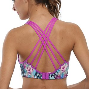CharmLeaks-Womens-WorkOut-Wirefree-CrossBack-Padded-Running-Yoga-Sports-Sport-Bra-0