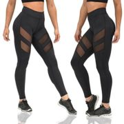 GRATUNIC-Womens-Mesh-Panels-Stretchy-Workout-Sports-Gym-Yoga-Leggings-Ninth-Pants-0-0