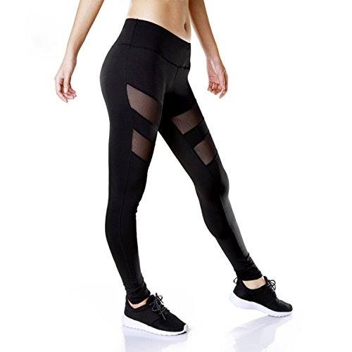 GRATUNIC-Womens-Mesh-Panels-Stretchy-Workout-Sports-Gym-Yoga-Leggings-Ninth-Pants-0