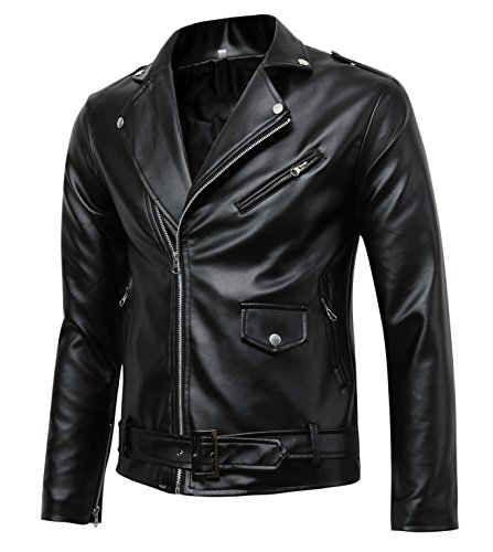 Mens-Classic-Police-Style-Faux-Leather-Motorcycle-Jacket-0