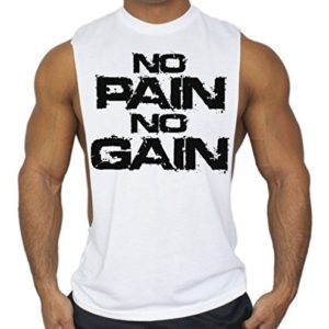 No-Pain-No-Gain-Workout-T-Shirt-Bodybuilding-Tank-Top-White-S-3XL-0