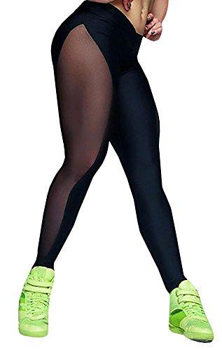 Nulibenna-Womens-Mesh-Stretchy-Workout-Sportys-Yoga-Leggings-Ninth-Pants-0