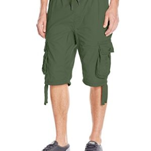 Southpole-Mens-Jogger-Shorts-with-Cargo-Pockets-In-Basic-Solid-Colors-0