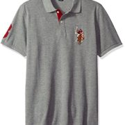 US-Polo-Assn-Mens-Multi-Color-Logo-Solid-Pique-Polo-Shirt-0