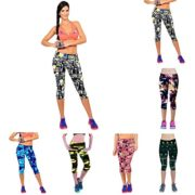 Ularmo-Womens-Printed-High-Waist-Fitness-Yoga-Stretch-Cropped-Sport-Pants-0-0