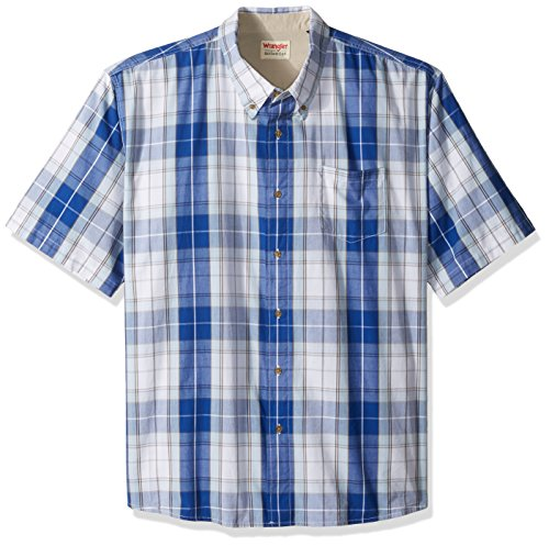7f86fb4f Wrangler Men's Big and Tall Authentics Short Sleeve Classic Plaid Shirt