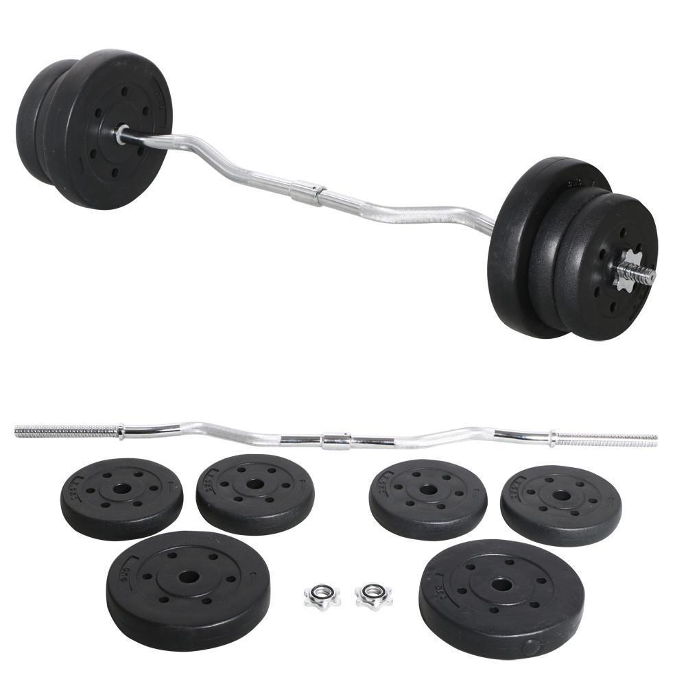 Workout Fitness Exercise Barbell Standard Curl Bar Weight: 25Kg Olympic Barbell Dumbbell Curl Bar Weight Set Gym