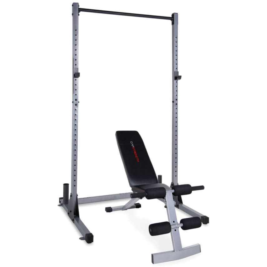Home gym equipment power rack with weight bench squat for Squat rack set