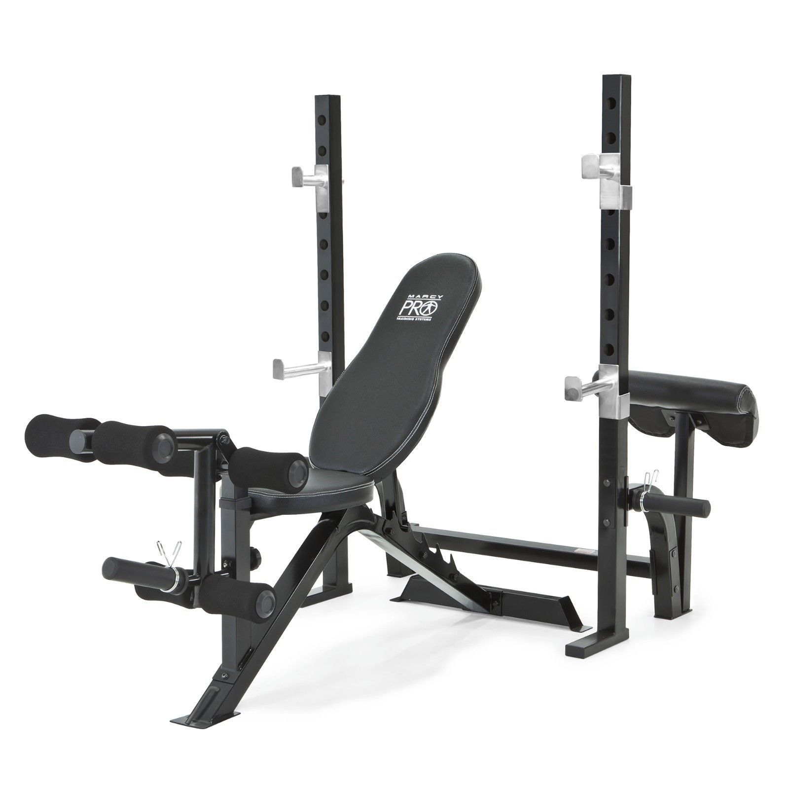 Marcy Pro 2pc Olympic Bench And Squat Rack Pm 842 W