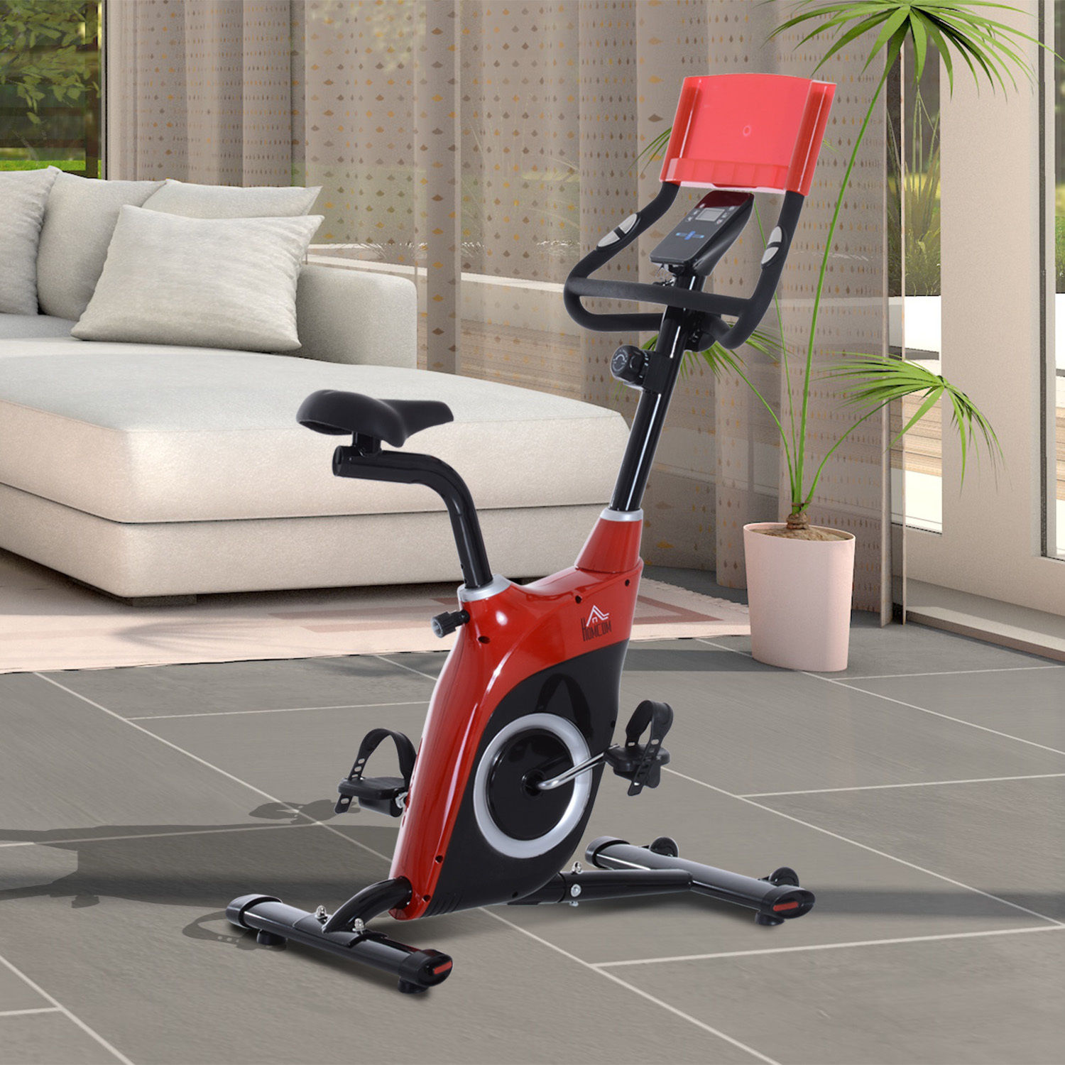 Magnetic exercise bike level resistance cardio fitness