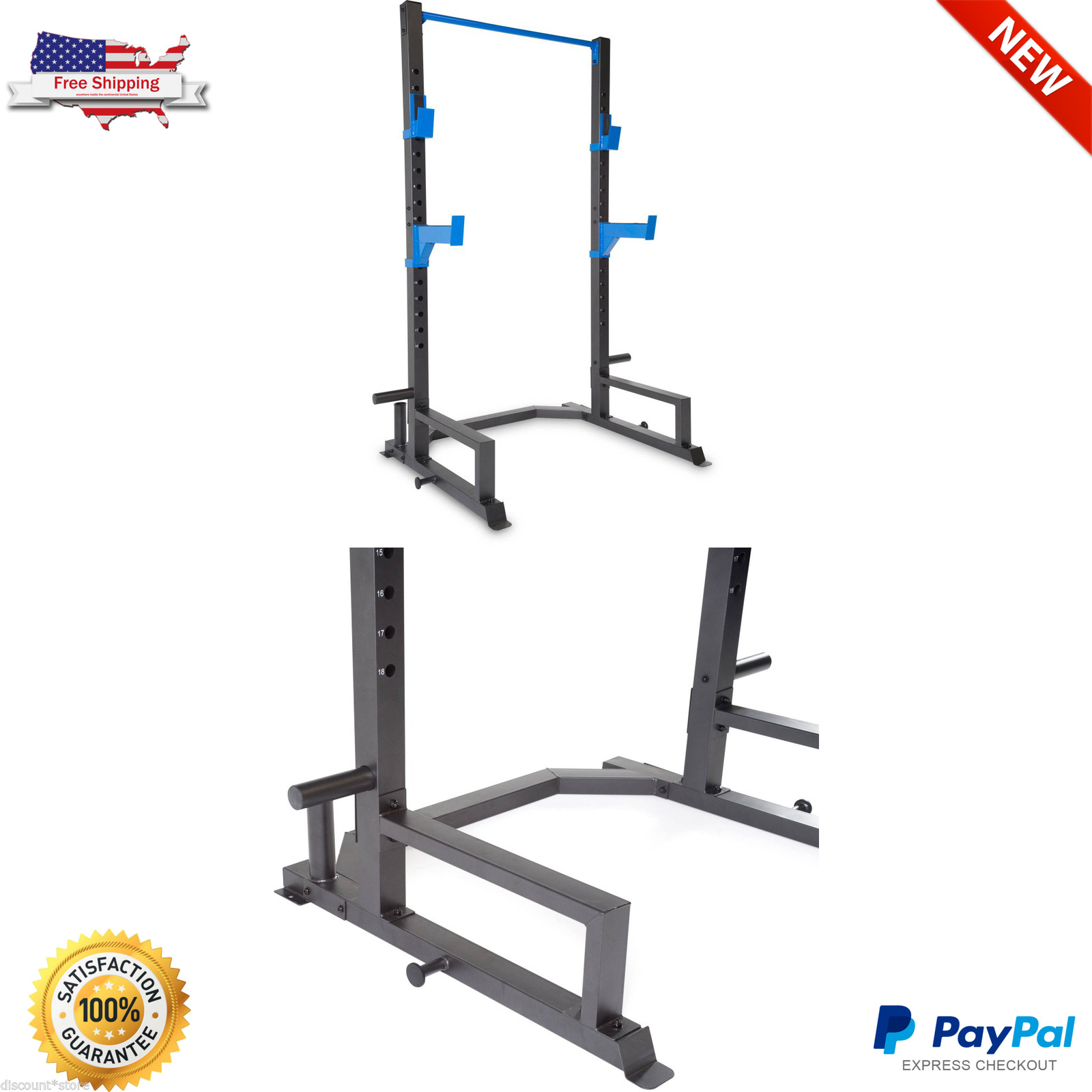 Bench Press Exercise Weight With Pull Up Bar Price Review: Power Lifting Cage Press Rack Squat Weight Fitness
