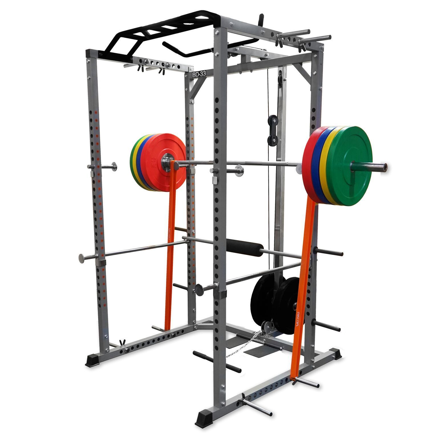 squat rack multi pull up station power cage power rack new. Black Bedroom Furniture Sets. Home Design Ideas