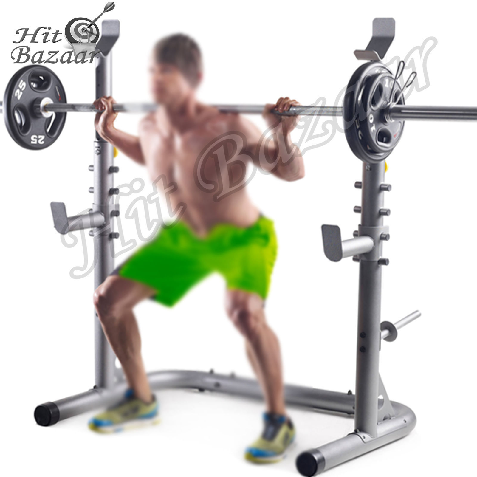 Squat Stands Power Rack Weight Lifting Home Gym Workout ...