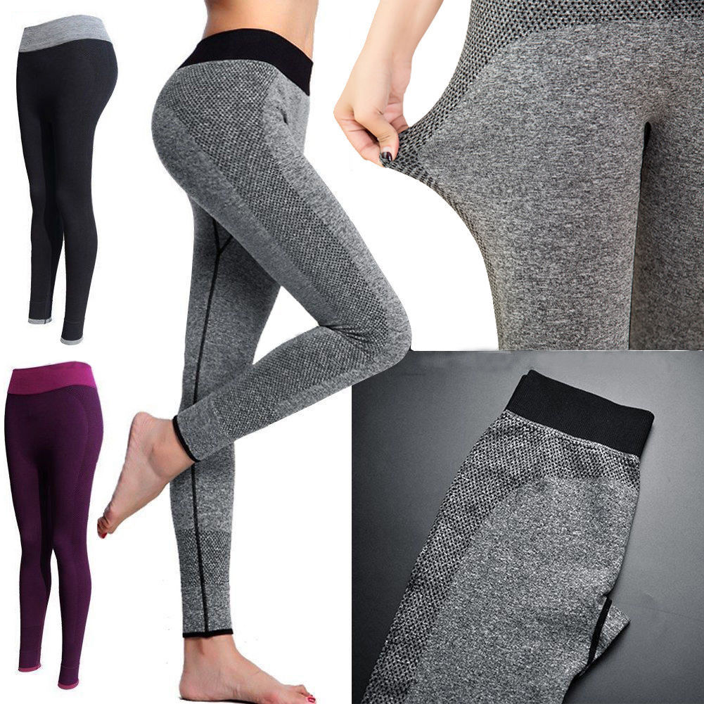 Womens Leggings Yoga Sports Athletic Fitness Stretch: HOT Women Sport Pants High Waist Yoga Fitness Athletic Gym