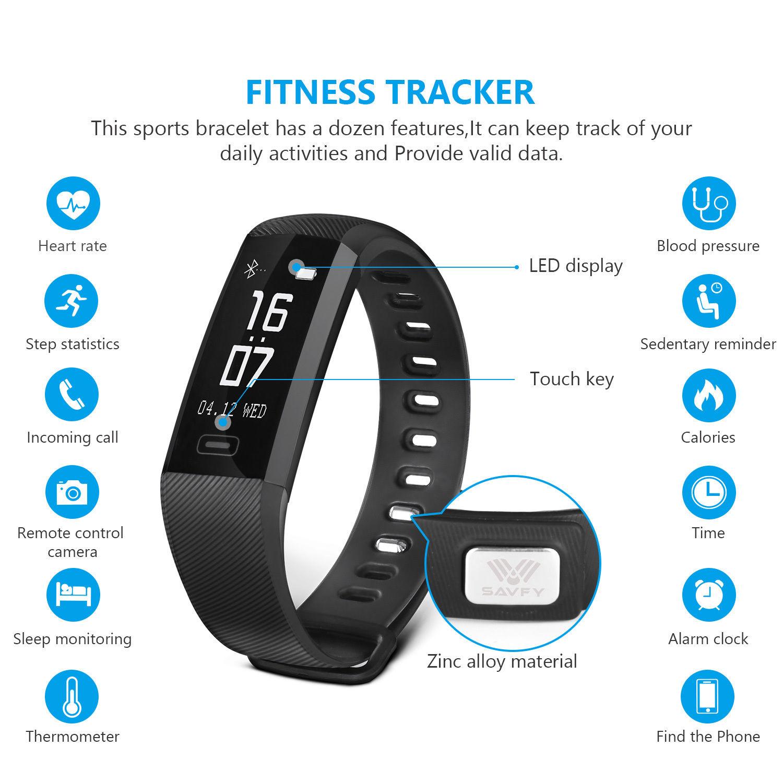Sports Activity Sleep Tracker Heart Rate Fitness Pedometer ...