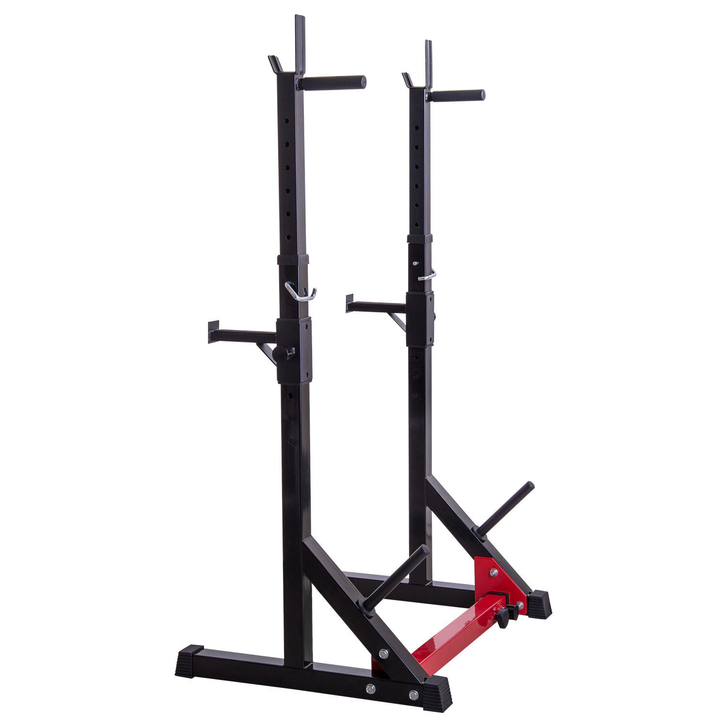 2pcs Adjustable Dip Stand Squat Rack Gym Fitness Barbell ...