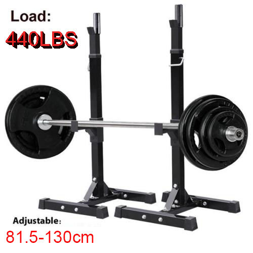 Power Rack Bench Press Safety: 2x Squat Rack Stand Bench Press Weight Lifting Barbell Gym