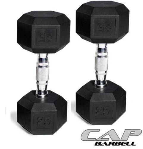 CAP Barbell Rubber-Coated Hex Dumbbells Set of 2 10lb Each *NEW*