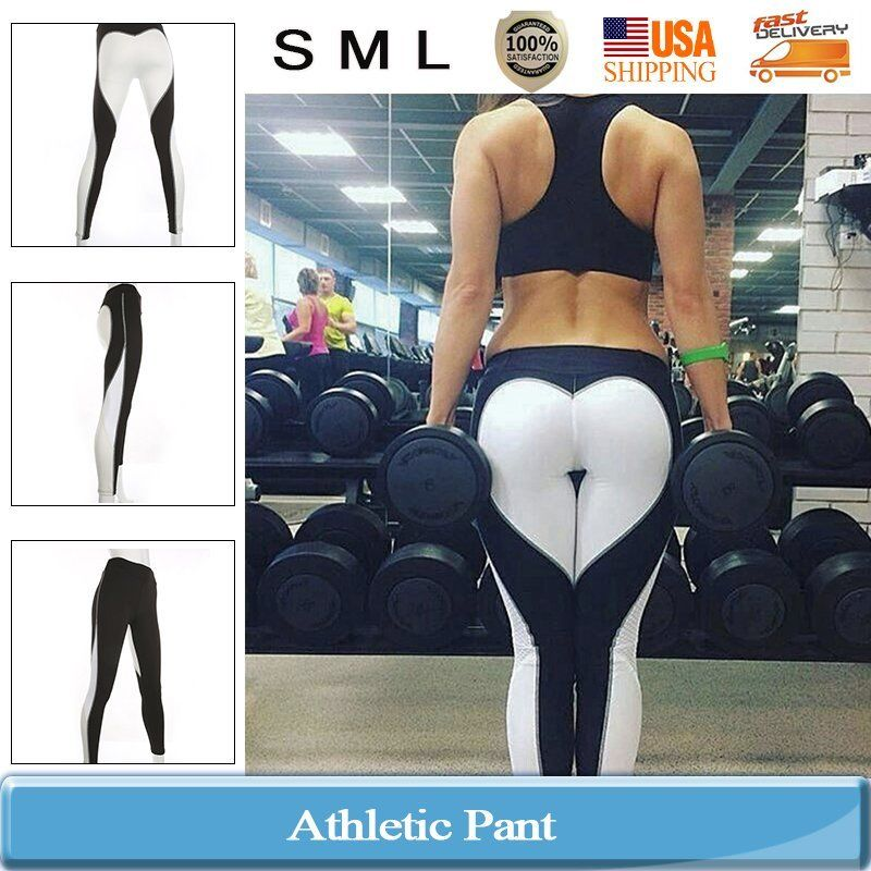 Fashion Women's Sports Gym Yoga Running Mesh Fitness Leggings Athletic Pants SML