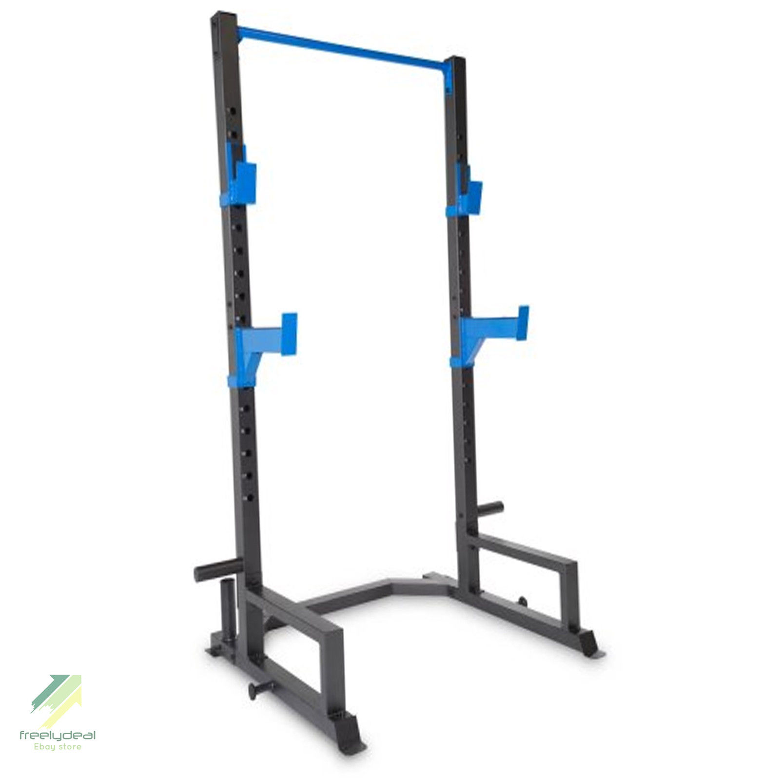Power lifing cage press weight rack squat fitness pull up for Squat rack set