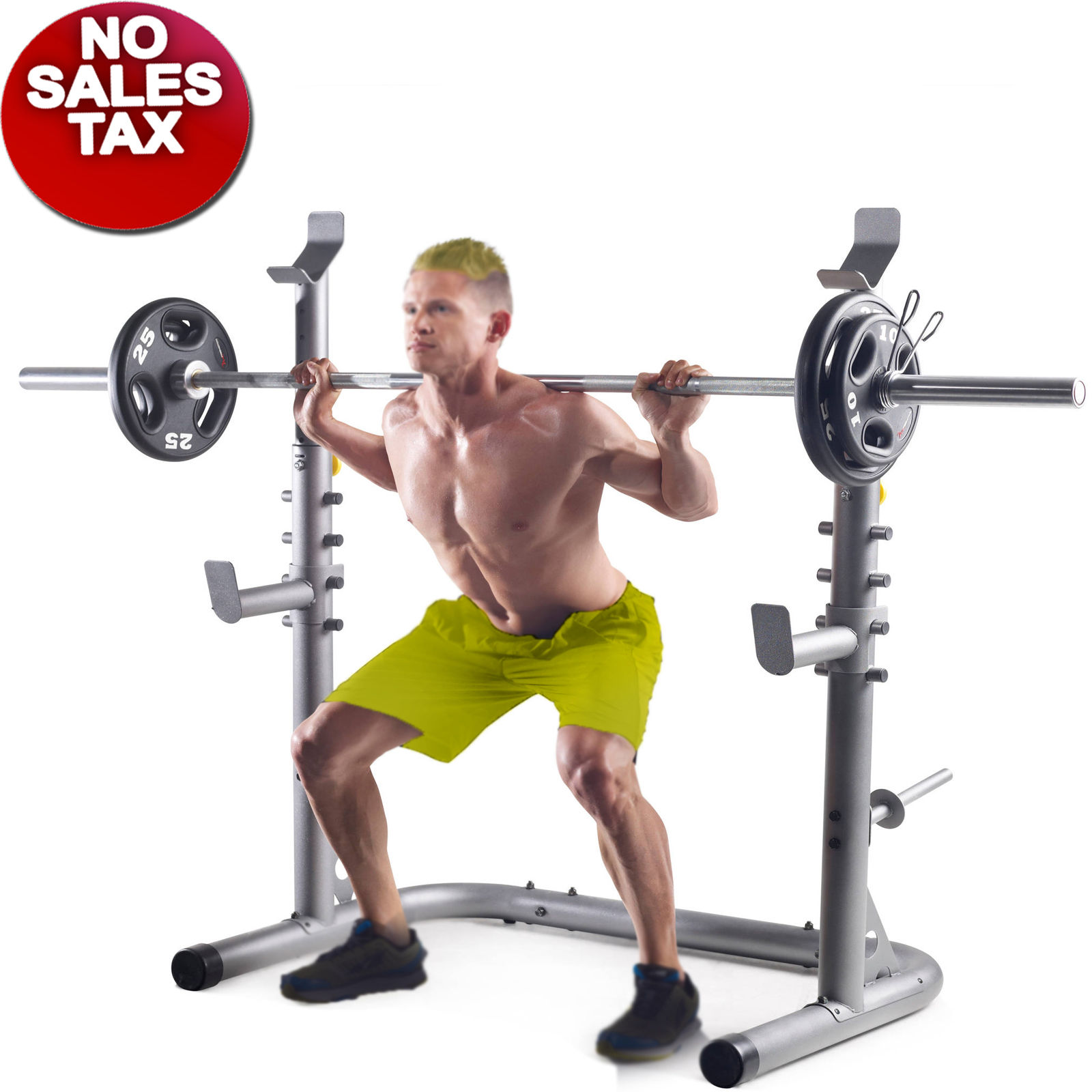 Squat stand workout gym power rack weight lifting home