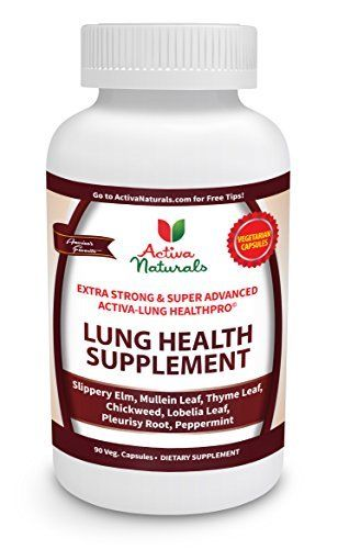 Activa Naturals Lung Health Supplement with Lobelia, Mullein, Thyme