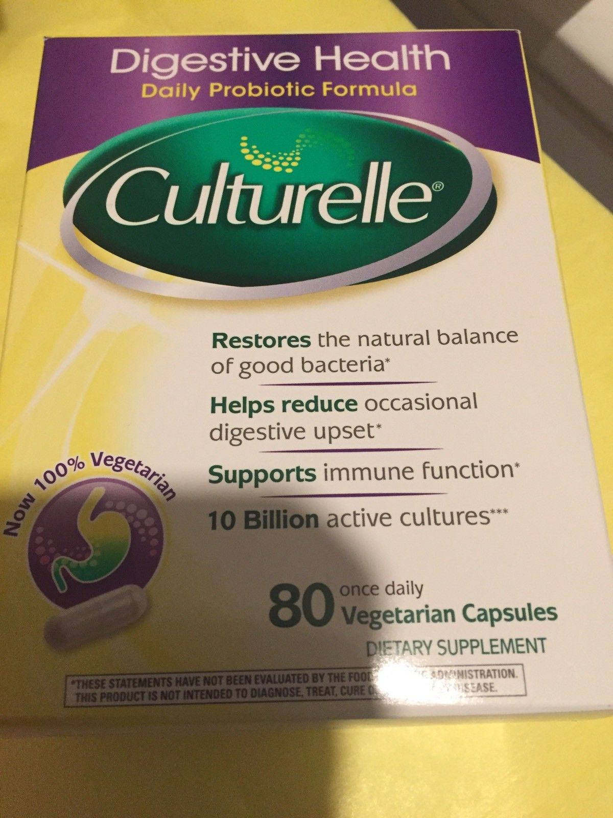 Culturelle Probiotic Supplement Capsules 80 Ct For Digestive Immune Health 2019