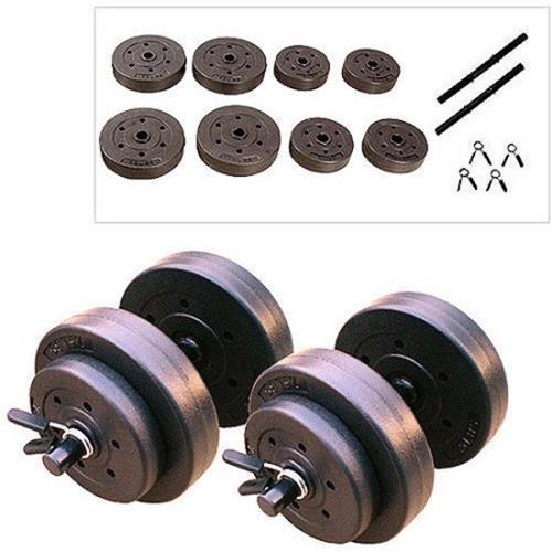Dumbbell Set Big 5: Golds Gym 40 Lb Vinyl Dumbbell Set Weights Dumbbells Hand