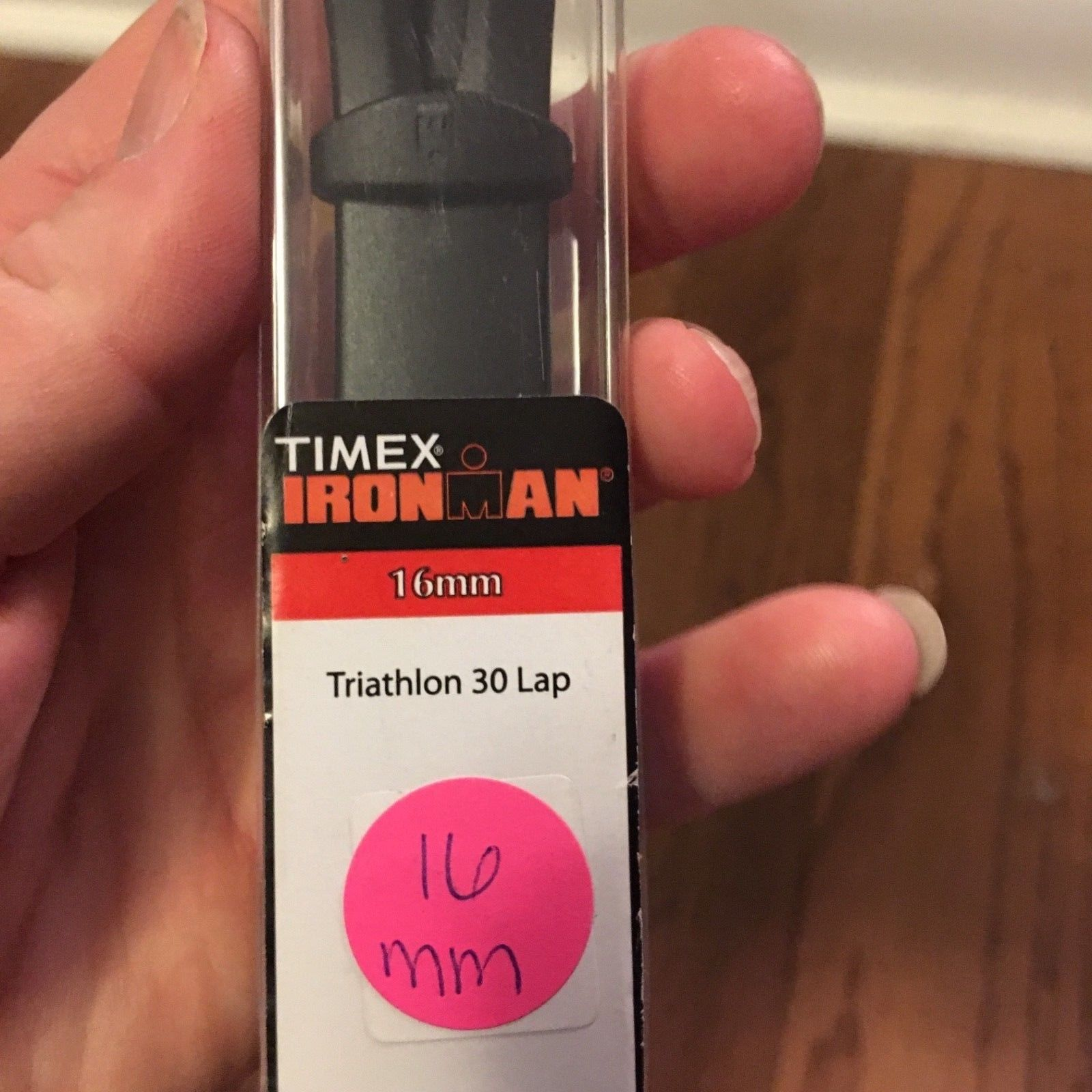 NIB 16mm Black Timex Ironman Triathlon 30 Lap Watch Band