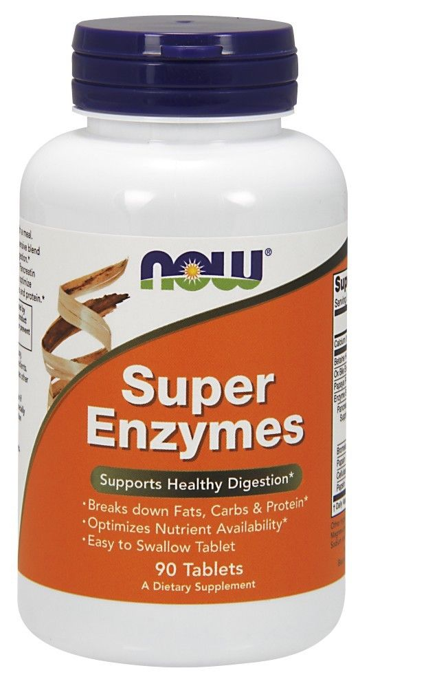 Super Enzymes 90 Tabs Now Foods, Digestive Enzyme Health