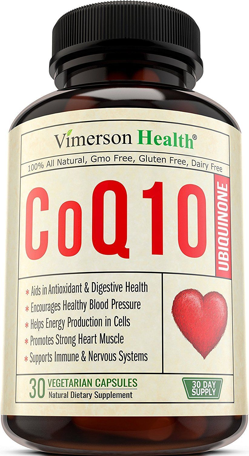 Vimerson Health CoQ10 Ubiquinone 200mg- Healthy Brain, Heart, Digestive