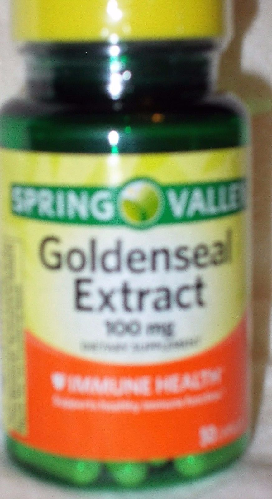 spring valley goldenseal extract 100 mg immune health 50 capsules free shipping