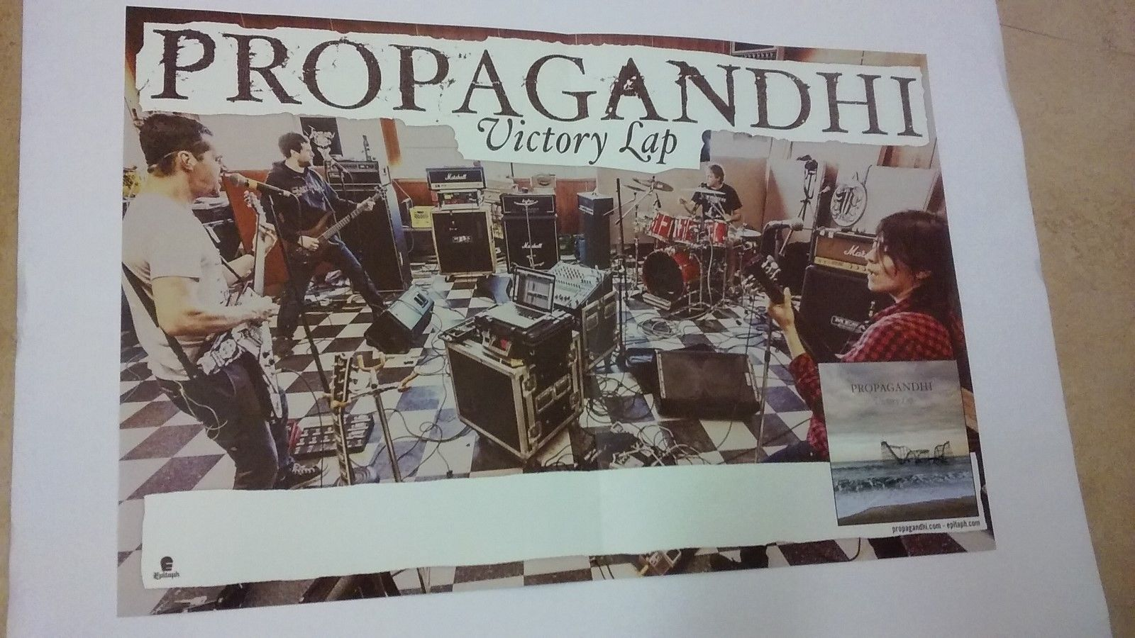 ^ POSTER by PROPAGANDHI victory lap For the bands tour promo gig album cd