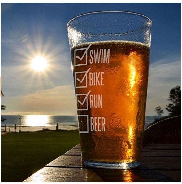 triathlete beer glass
