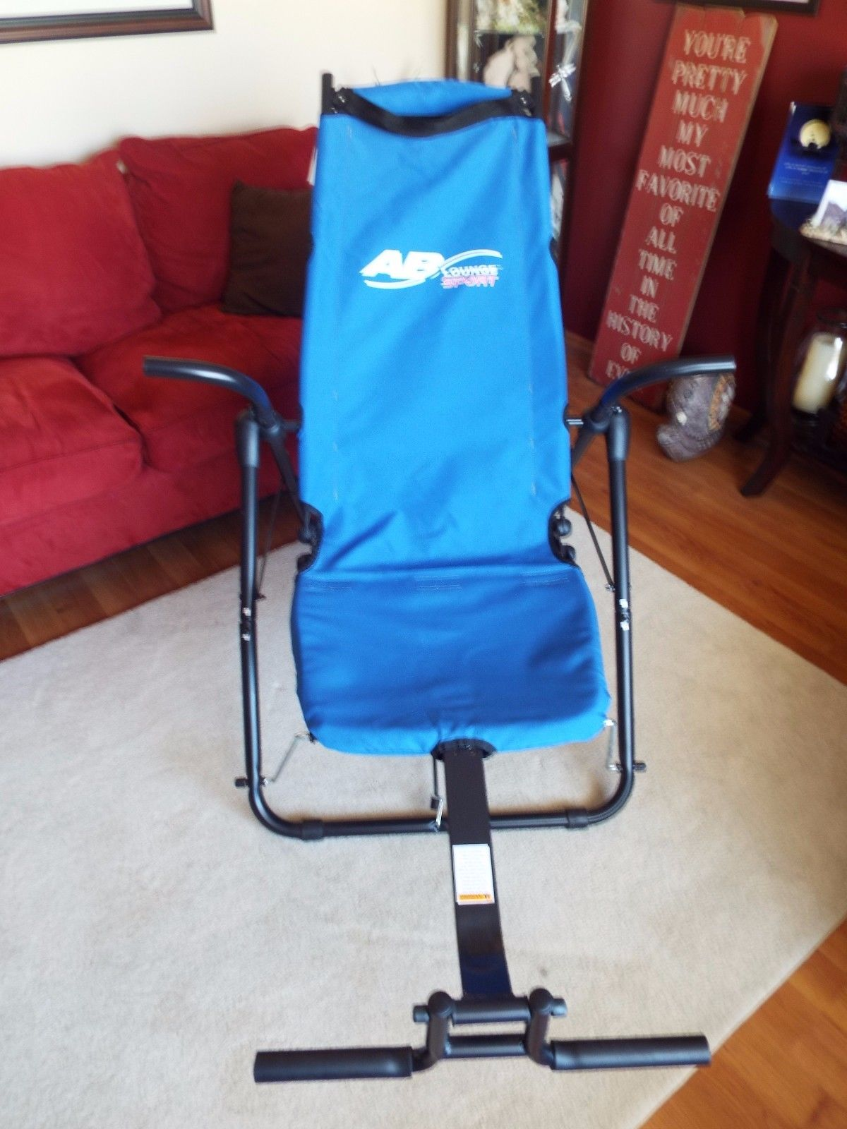 Ab Lounge 2 Abs Abdominal Workout Exercise Chair - Blue ...