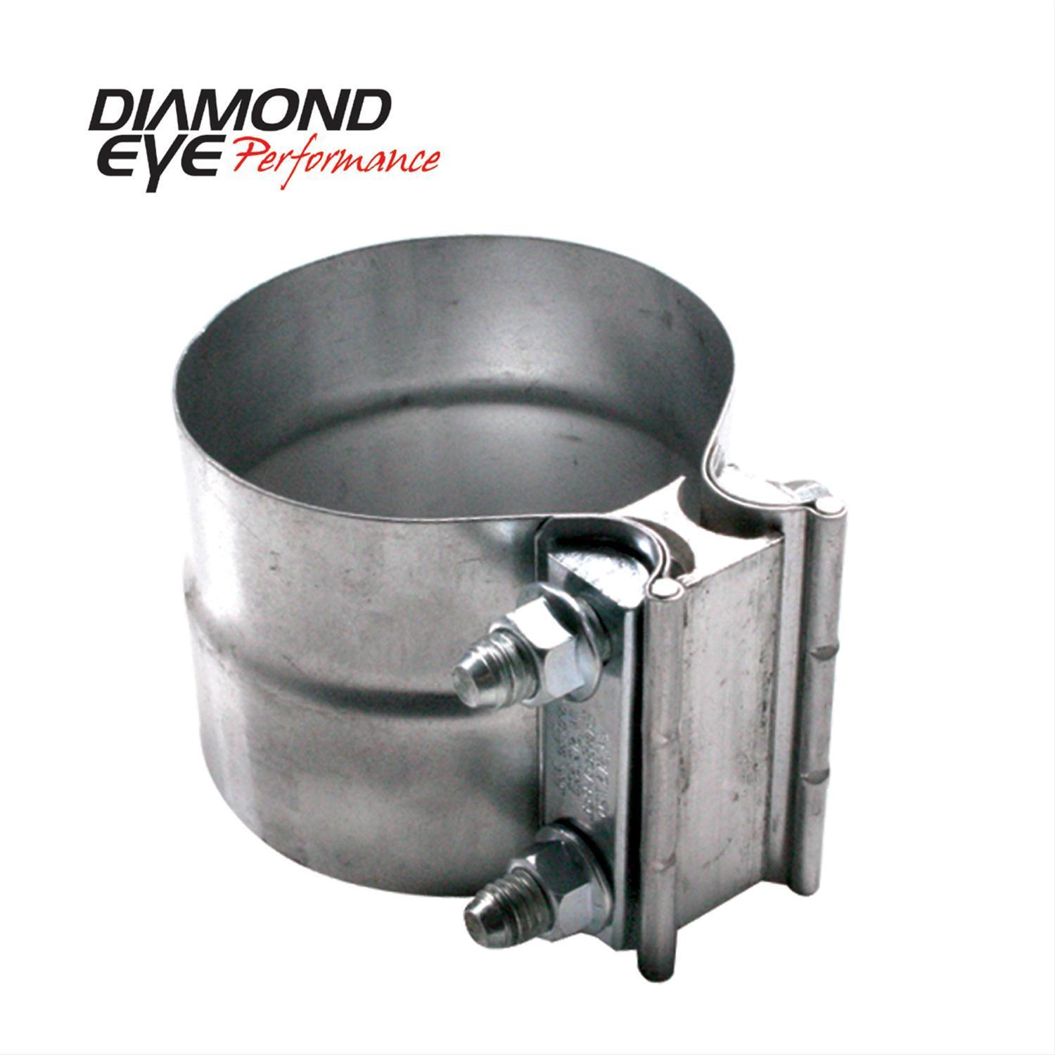 Diamond Eye Exhaust Band Clamp Lap Joint Stainless Steel Natural 2.250″ Dia EA