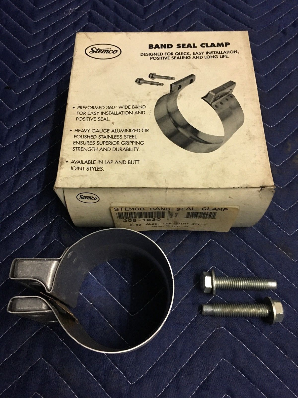 STEMCO 3 INCH LAP JOINT BAND SEAL CLAMP 268-1830 EXHAUST 2681830