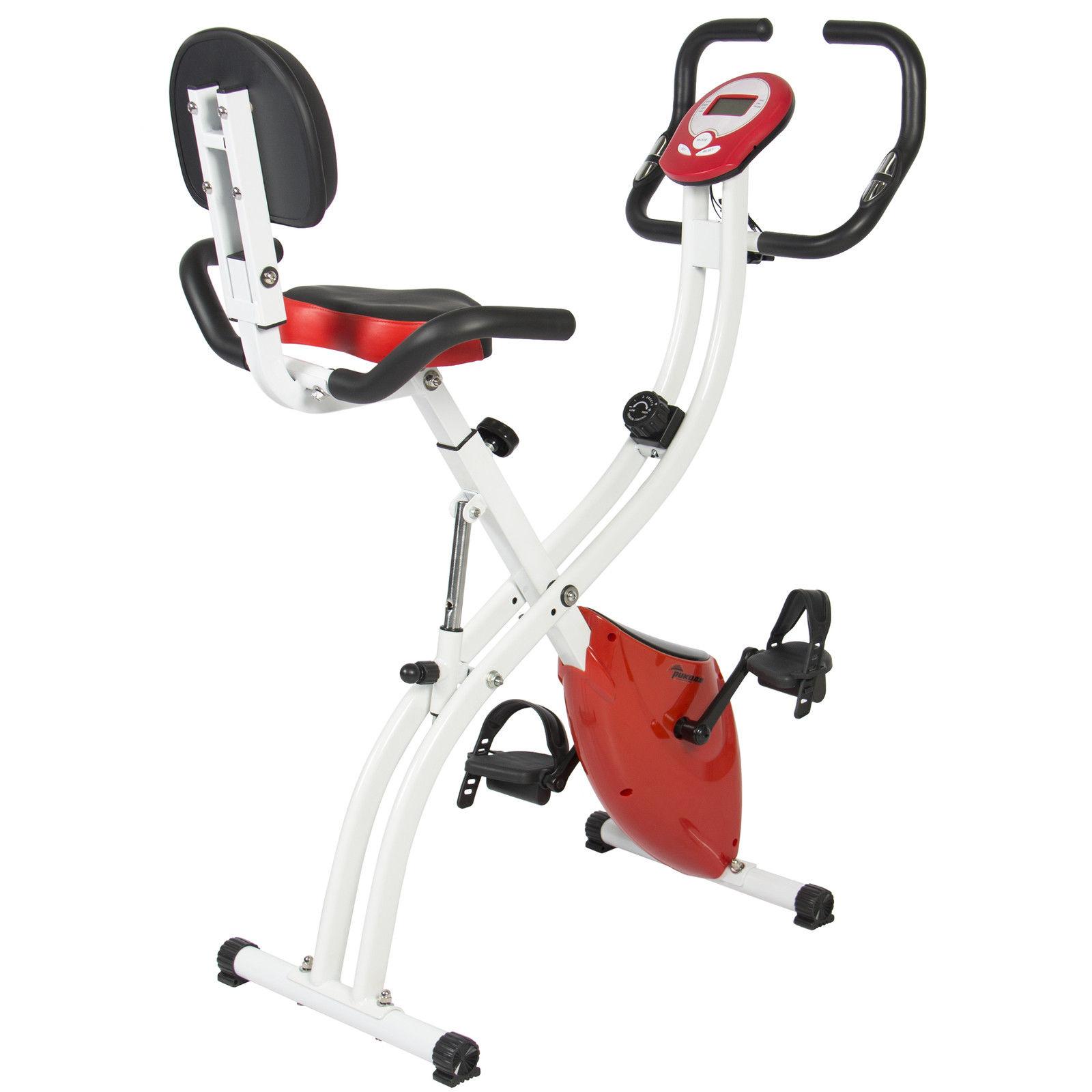 BCP Folding Adjustable Magnetic Upright Exercise Bike Fitness Upgraded Machine