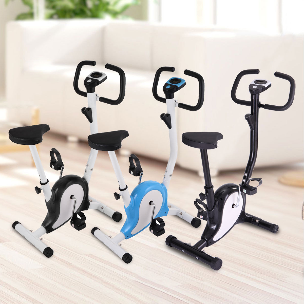 Exercise Bike Aerobic Cycling Fintess Trainer Cardio Workout Machine Indoor Gym