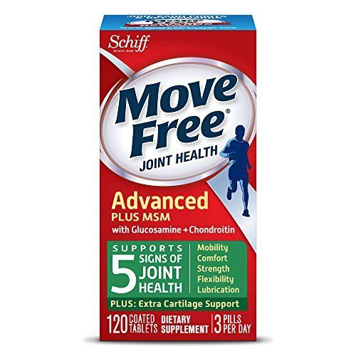 Move Free Advanced Plus MSM, 120 tablets – Joint Health Supplement with