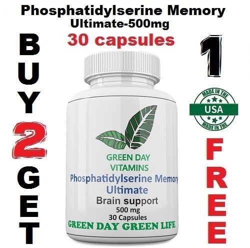 Phosphatidylserine Memory Ultimate 500mg Brain Health  Phosphatid Made in USA